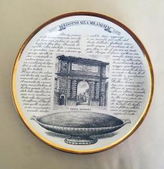 Piero Fornasetti Set of Twelve Recipe Plates Specialit Milanese Pattern - 1618102