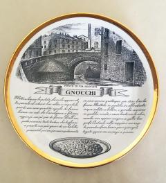 Piero Fornasetti Set of Twelve Recipe Plates Specialit Milanese Pattern - 1618103