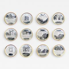 Piero Fornasetti Set of Twelve Recipe Plates Specialit Milanese Pattern - 1618935