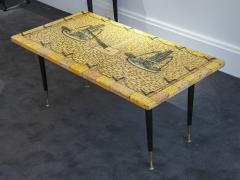 Piero Fornasetti Side table with printed wood - 1265151