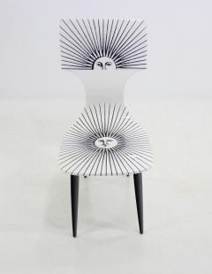 Piero Fornasetti Three Sole Dining Side Chairs by Piero Fornasetti - 1079833
