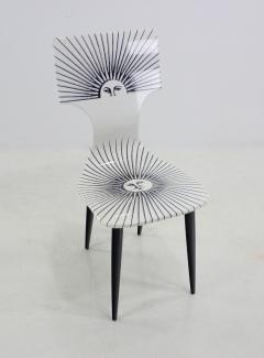 Piero Fornasetti Three Sole Dining Side Chairs by Piero Fornasetti - 1079834