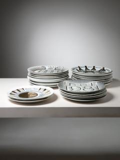 Piero Fornasetti Unique Set of 23 Calendar Plates by Piero Fornasetti - 1245763