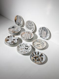 Piero Fornasetti Unique Set of 23 Calendar Plates by Piero Fornasetti - 1245767