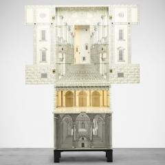 Piero Fornasetti Whimsical lacquered wood cabinet by Piero Fornasetti - 1172951