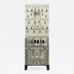 Piero Fornasetti Whimsical lacquered wood cabinet by Piero Fornasetti - 1174887