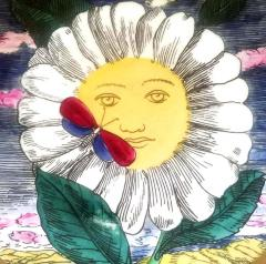 Piero Piero Fornasetti Mesi Soli Pattern Twelve Suns Twelve Months  - 1618133