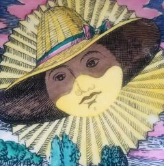 Piero Piero Fornasetti Mesi Soli Pattern Twelve Suns Twelve Months  - 1618135