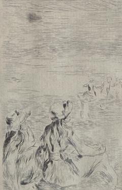 Pierre Auguste Renoir Sur la Plage a Berneval  - 1939919