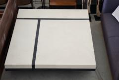 Pierre Bonnefille White and Black Coffee Table by Pierre Bonnefille - 1296123