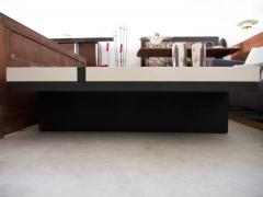 Pierre Bonnefille White and Black Coffee Table by Pierre Bonnefille - 1296127