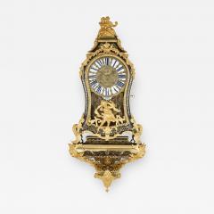 Pierre Brezagez Antique 18th Century Boulle Bracket Clock by Brezagez and Marchand - 1955364