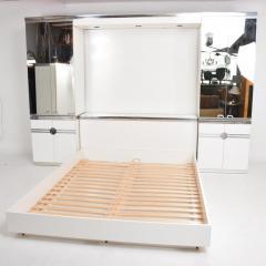 Pierre Cardin 1970s late designer PIERRE CARDIN Mirrored Bedroom Set Ensemble White Chrome - 2016008