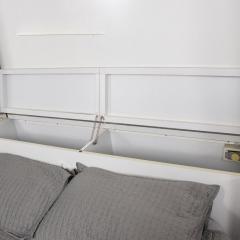 Pierre Cardin 1970s late designer PIERRE CARDIN Mirrored Bedroom Set Ensemble White Chrome - 2016011