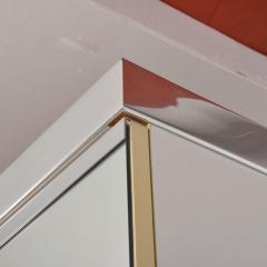 Pierre Cardin 1970s late designer PIERRE CARDIN Mirrored Bedroom Set Ensemble White Chrome - 2016014