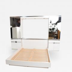 Pierre Cardin 1970s late designer PIERRE CARDIN Mirrored Bedroom Set Ensemble White Chrome - 2020961
