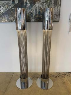 Pierre Cardin Pair of Pierre Cardin 1970s High Style Floor Lamps - 1626065