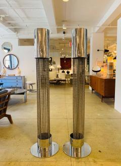 Pierre Cardin Pair of Pierre Cardin 1970s High Style Floor Lamps - 1626067