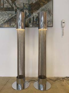 Pierre Cardin Pair of Pierre Cardin 1970s High Style Floor Lamps - 1626070