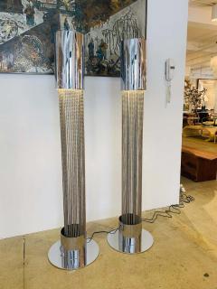 Pierre Cardin Pair of Pierre Cardin 1970s High Style Floor Lamps - 1626073