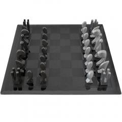 Pierre Cardin Pierre Cardin 1969 Evolution Chess Set with Glass Board - 181681