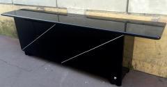 Pierre Cardin Pierre Cardin Signed Black Lacquered 3 Door Cabinet - 614925