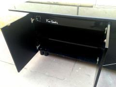 Pierre Cardin Pierre Cardin Signed Black Lacquered 3 Door Cabinet - 614928