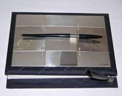 Pierre Cardin Pierre Cardin Vintage Address and Notebook Desk Set with Sterling Silver Cover - 1687177