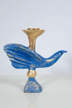 Pierre Casenove Gilt Bronze Dove Candlestick by Pierre Casenove for Fondica - 775523