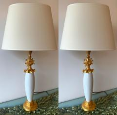Pierre Casenove Pair of Sun Lamps Ceramic Gilt Metal by Pierre Casenove for Fondica - 1206802