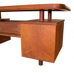 Pierre Chapo A Unique French Modern Solid Rosewood Desk - 1141246