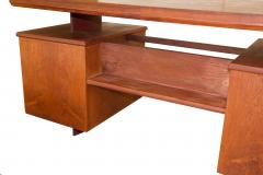 Pierre Chapo A Unique French Modern Solid Rosewood Desk - 1141248