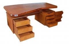 Pierre Chapo A Unique French Modern Solid Rosewood Desk - 1141251