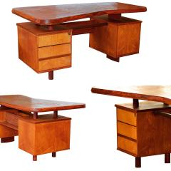 Pierre Chapo A Unique French Modern Solid Rosewood Desk - 1152182