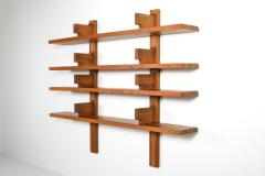 Pierre Chapo Chapo B17 book shelve in solid French Elm 1960s - 1638313