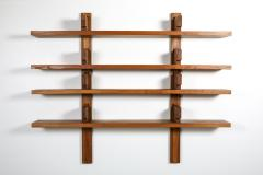 Pierre Chapo Chapo B17 book shelve in solid French Elm 1960s - 1638314