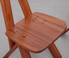 Pierre Chapo One Pair of Two Pierre Chapo S45 Chairs in Solid Elm - 526306