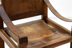 Pierre Chapo Pair of Pierre Chapo S10 Easy Chairs in Cognac Leather and Oak France 1960s - 928726