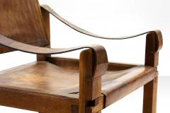 Pierre Chapo Pair of Pierre Chapo S10 Easy Chairs in Cognac Leather and Oak France 1960s - 928727