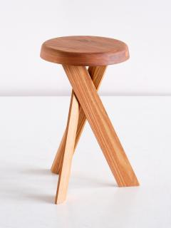 Pierre Chapo Pair of Pierre Chapo S31 Stools in Solid Elm Chapo Creation France - 2091156