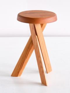 Pierre Chapo Pair of Pierre Chapo S31 Stools in Solid Elm Chapo Creation France - 2091157