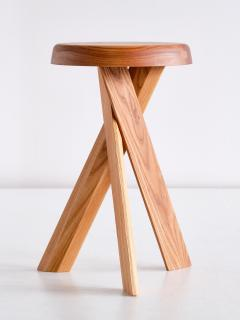 Pierre Chapo Pair of Pierre Chapo S31 Stools in Solid Elm Chapo Creation France - 2091160
