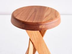 Pierre Chapo Pair of Pierre Chapo S31 Stools in Solid Elm Chapo Creation France - 2091162