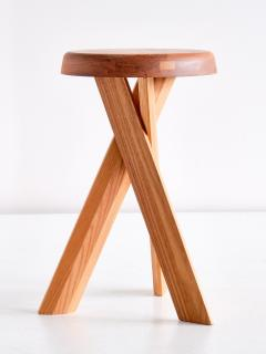 Pierre Chapo Pair of Pierre Chapo S31 Stools in Solid Elm Chapo Creation France - 2091163