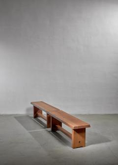 Pierre Chapo Pair of Pierre Chapo elm benches France 1960s - 1057517