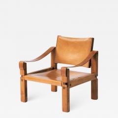Pierre Chapo Pierre Chapo S10 Cognac Leather Easy Chair France 1960s - 824103