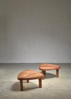 Pierre Chapo Pierre Chapo pair of small triangular coffee tables - 1554918