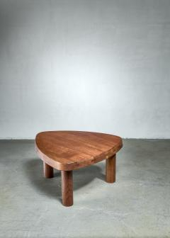 Pierre Chapo Pierre Chapo small triangular coffee table in oak France 1960s - 1163890