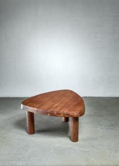 Pierre Chapo Pierre Chapo small triangular coffee table in oak France 1960s - 1163891