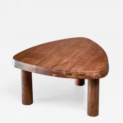 Pierre Chapo Pierre Chapo small triangular coffee table in oak France 1960s - 1165377